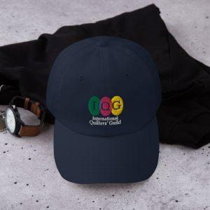Dark-colored baseball hat